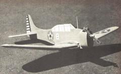 SBD Dauntless model airplane plan