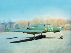 Saab J21 model airplane plan