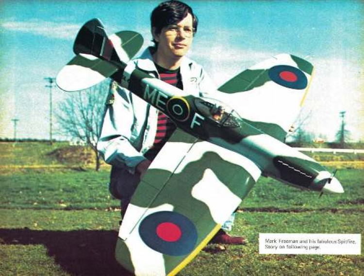 Spitfire Mk XVI model airplane plan
