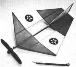 Stringless Wonder model airplane plan