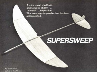 Supersweep model airplane plan