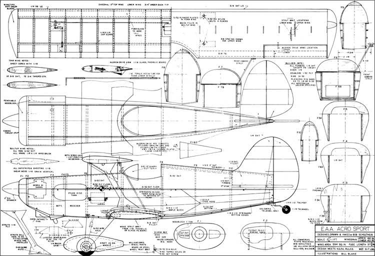 EAA Acro-Sport model airplane plan