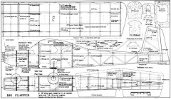 Big Flapper 70in model airplane plan