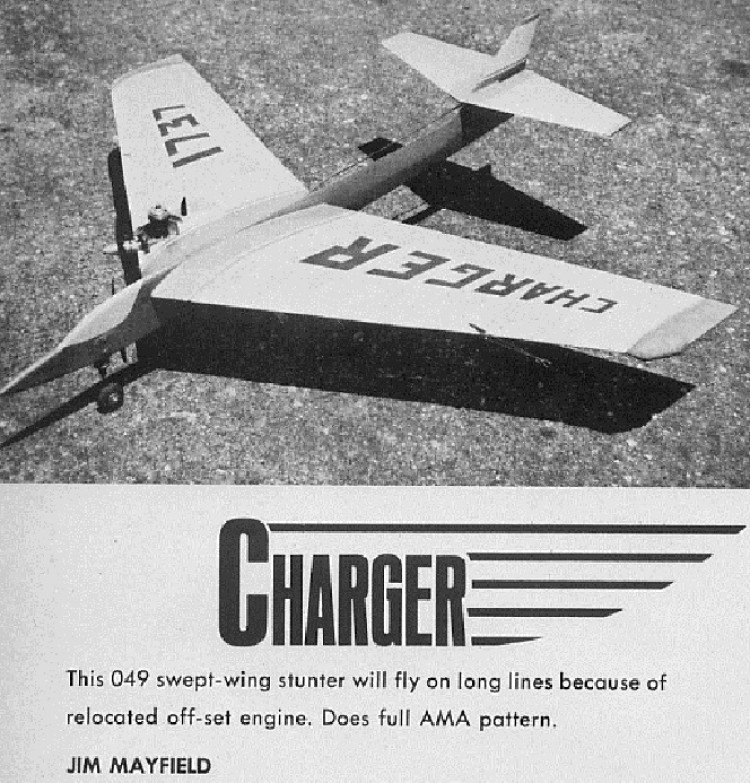 Charger model airplane plan