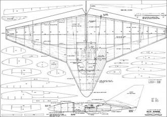 Delta Diamond RC model airplane plan