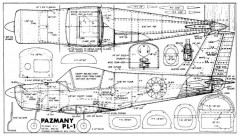 Pazmany PL1 model airplane plan