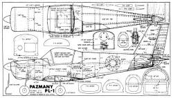 Pazmany PL1 model airplane plan
