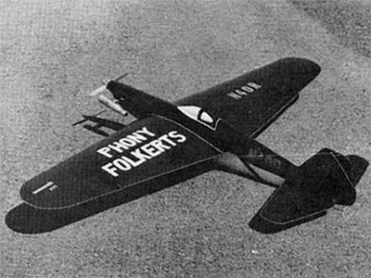 Phony Folkerts model airplane plan