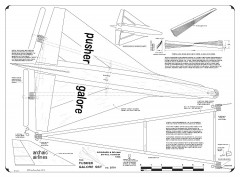 Pusher Galore model airplane plan