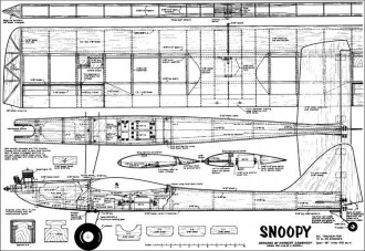 Snoopy RC 48in model airplane plan