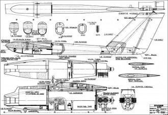 Sparrow RPV model airplane plan