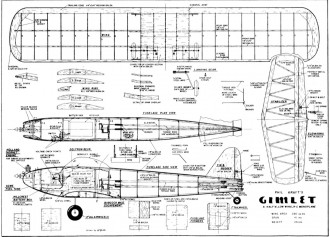 Gimlet model airplane plan