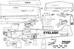 Eyelash model airplane plan