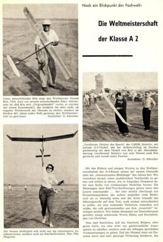 A-2 glider model airplane plan
