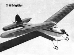 1/2A Brigidier model airplane plan