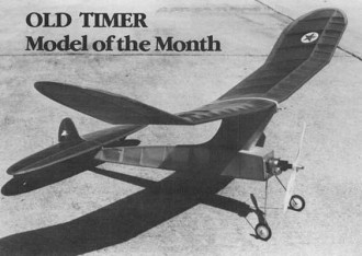 1942 Comet Interceptor model airplane plan