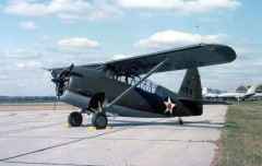 Curtiss O-52 model airplane plan