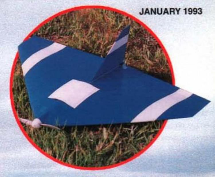 Delta Vee model airplane plan