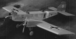Ersatz Bomber JU-37 model airplane plan