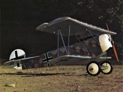 Fokker DVI model airplane plan