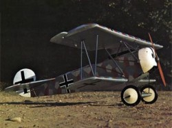 Fokker DVI model airplane plan