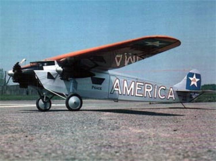 Fokker Trimotor model airplane plan