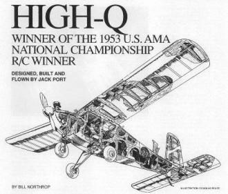 High Q model airplane plan