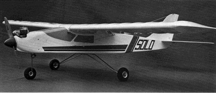 Solo model airplane plan
