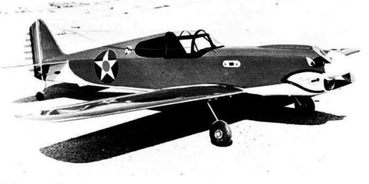 Tiger P-40 model airplane plan