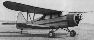 Waco E model airplane plan