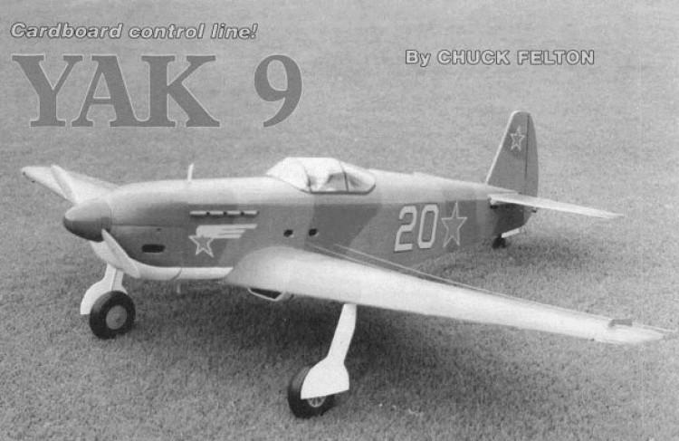 Yak 9 model airplane plan