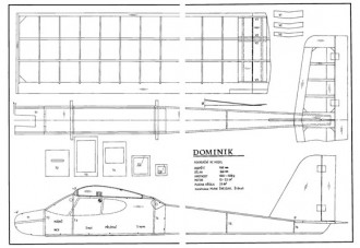 Dominik model airplane plan