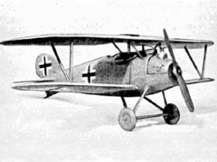 Albatros DV model airplane plan