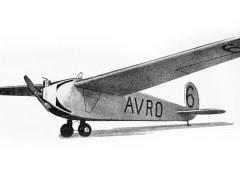 Avro 560 model airplane plan