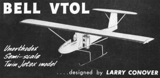 Bell Vtol model airplane plan