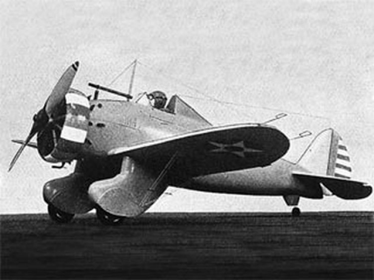 Boeing P-26A model airplane plan