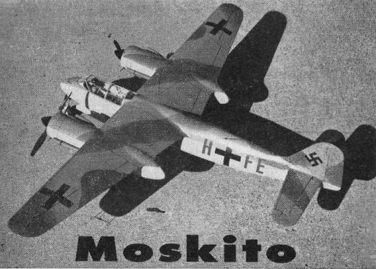 Focke-Wulf Ta 154 Moskito model airplane plan