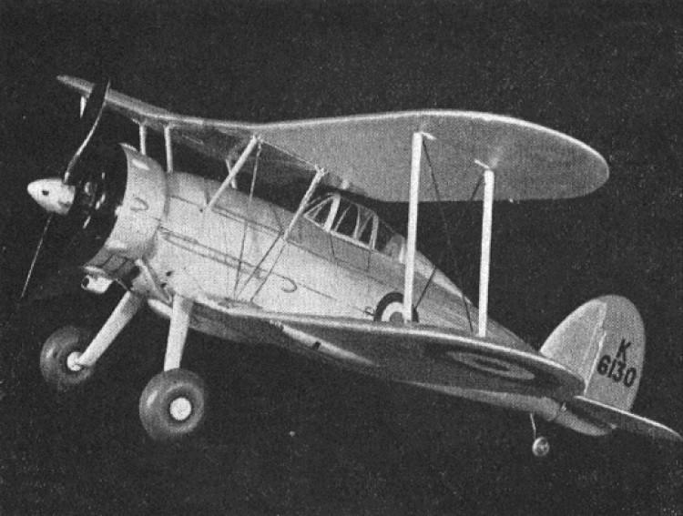 Gloster Gladiator model airplane plan