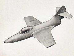 Grumman F9F-2 Panther model airplane plan
