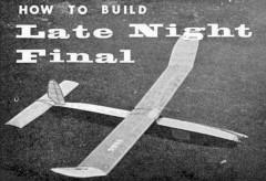 Late Night Final model airplane plan