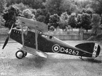 Martinsyde Buzzard model airplane plan