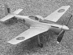 Mustang IV model airplane plan