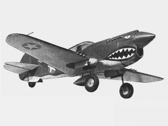 P-40 Warhawk model airplane plan