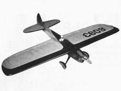 Scimitar model airplane plan