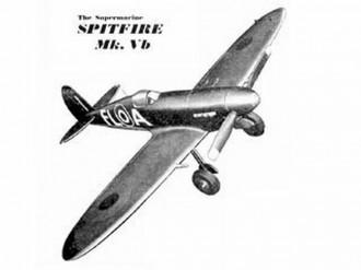 Spitfire Mk VB model airplane plan