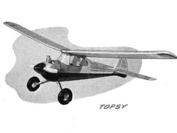 Topsy model airplane plan