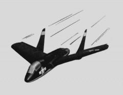 Vought F7U-1 Cutlass model airplane plan