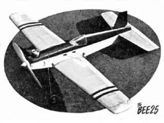 Bee 25 model airplane plan