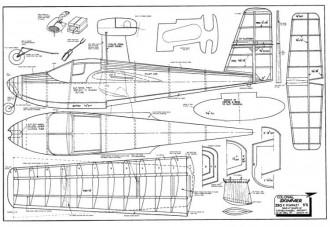 Colonial Skimmer model airplane plan