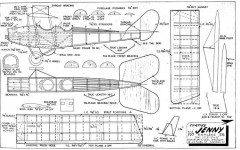 Curtiss JN-4 Jenny model airplane plan